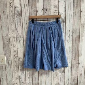 LulaRoe skirt blue pleated size medium